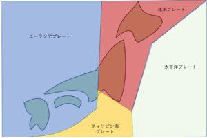 tectonic plate around Japan
